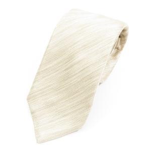 イザイア ISAIA シルク 三つ折り ネクタイ メランジベージュ|ritagliolibro