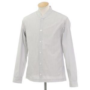 ビルトルナード トルネイド BILL TORNADE ストライプ カジュアルシャツ ホワイト×ブラック S|ritagliolibro