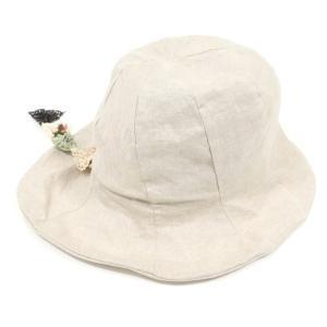 カシラ CA4LA リネン ハット 帽子 レディース サンドベージュ|ritagliolibro