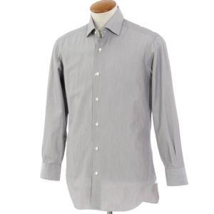 バルバ BARBA コットン セミワイドカラー ドレスシャツ グレー 39|ritagliolibro