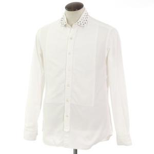 サルヴァトーレ ピッコロ Salvatore Piccolo スタッズカラー カジュアルシャツ ホワイト L|ritagliolibro