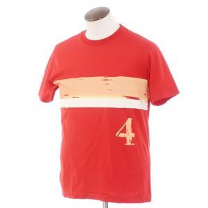 ポールスミス Paul Smith コットン 半袖クルーネックTシャツ レッド×オレンジ L ritagliolibro