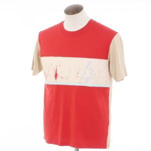 ポールスミス Paul Smith コットン 半袖クルーネックTシャツ レッド×ベージュ L ritagliolibro