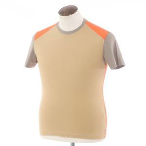 ポールスミス Paul Smith コットン 半袖クルーネックTシャツ オレンジ×ベージュ×グレー L ritagliolibro