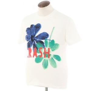 ポールスミス Paul Smith コットン 半袖プリントクルーネックTシャツ ホワイト L ritagliolibro