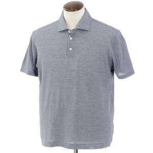 クルチアーニ Cruciani コットン 半袖ポロシャツ ネイビー×ホワイト 56|ritagliolibro