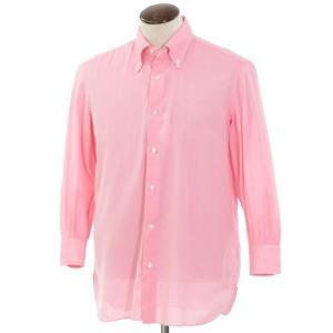 ルイジ ボレッリ LUIGI BORRELLI コットン ボタンダウンシャツ ピンク 42 ritagliolibro