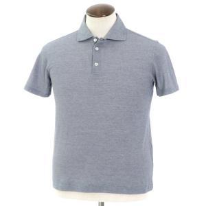 クルチアーニ Cruciani コットン半袖ポロシャツ ネイビー×ホワイト 50|ritagliolibro