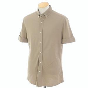 ブルネロ クチネリ BRUNELLO CUCINELLI コットン 半袖ボタンダウンシャツ アッシュブラウン S|ritagliolibro