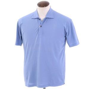 ザノーネ ZANONE コットン 半袖ポロシャツ ライトスマルトブルー 50|ritagliolibro