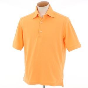 ギローバー GUY ROVER コットン鹿の子 半袖ポロシャツ オレンジ M|ritagliolibro