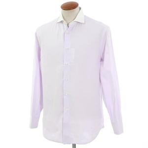 ブルネロ クチネリ BRUNELLO CUCINELLI クレリック ドレスシャツ ラベンダー×ホワイト M|ritagliolibro