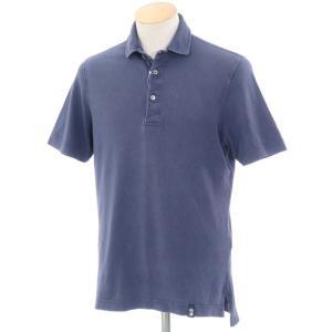 ドルモア Drumohr コットン鹿の子 半袖ポロシャツ グレイッシュネイビー S|ritagliolibro