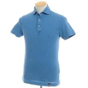 ドルモア Drumohr コットン鹿の子 半袖ポロシャツ ブルー S|ritagliolibro