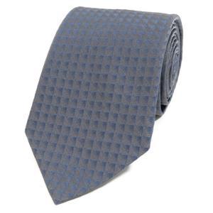 アルマーニコレツィオーニ ARMANI COLLEZIONI シルク 3つ折り ネクタイ グレー×ダルブルー|ritagliolibro