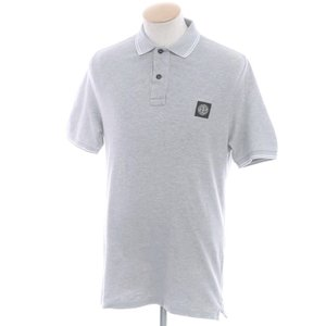ストーンアイランド STONE ISLAND コットン 半袖ポロシャツ グレー S|ritagliolibro