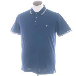 バランタイン BALLANTYNE 鹿の子コットン 半袖ポロシャツ ネイビー XL|ritagliolibro