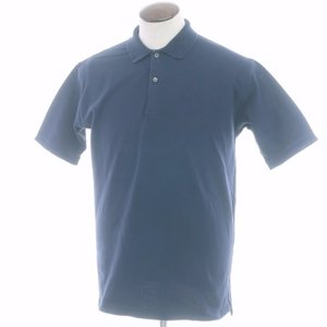 マーロ malo 鹿の子コットン 半袖ポロシャツ ネイビー 50|ritagliolibro