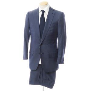 イザイア ISAIA シルク混ウール 2つボタン スーツ ネイビー 42|ritagliolibro