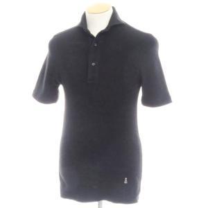 ギローバー GUY ROVER コットンパイル 半袖ポロシャツ ブラック XS|ritagliolibro