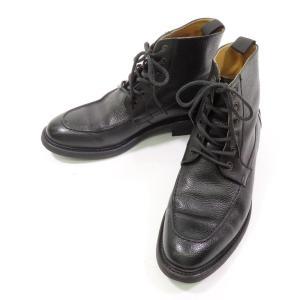 バーウィック BERWICK カントリーカーフ Uチップブーツ ブラック 7 1/2|ritagliolibro