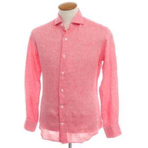 ケイケイシャツ K-K shirt リネン ワイドカラー シャツ ピンク 39|ritagliolibro