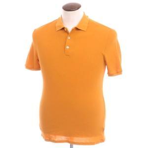 ザノーネ ZANONE コットン鹿の子 半袖ポロシャツ オレンジ 50 ritagliolibro
