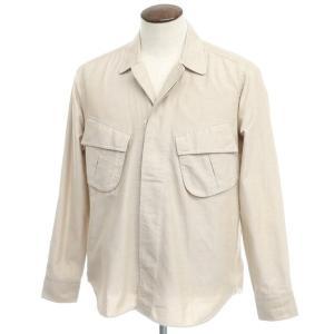 バグッタ Bagutta THE SHACKET オックスフォードコットン シャツジャケット ベージュ 42|ritagliolibro
