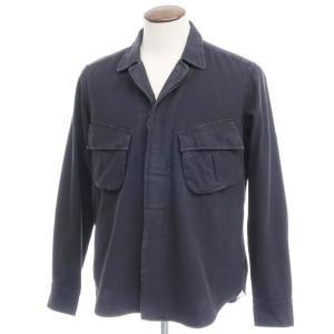 バグッタ Bagutta THE SHACKET ウォッシュコットン シャツジャケット ブラック 42|ritagliolibro