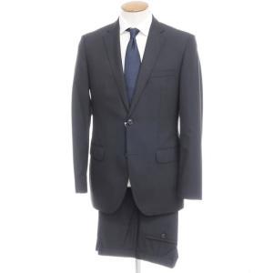 ヒューゴボス HUGO BOSS ウール 2つボタン スーツ ダークネイビー 46|ritagliolibro