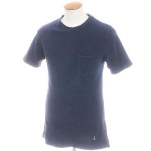 ギローバー GUY ROVER コットンパイル 半袖クルーネックTシャツ ネイビー M|ritagliolibro