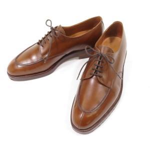 ロイドフットウェア Lloyd Footwear クロケット&ジョーンズ製 スプリットトゥ レザー ドレスシューズ J8083 ブラウン 6|ritagliolibro