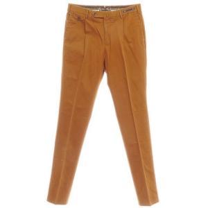 アウトレット ピーティーゼロウーノ PT01 ストレッチ コットン スラックス パンツ オレンジブラウン 50|ritagliolibro
