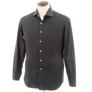 マリアサンタンジェロ Maria Santangelo コットン ワイドカラー シャツ ブラック L|ritagliolibro