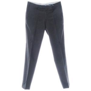 ジェルマーノ GERMANO ウール スラックス パンツ ブラック×グレー 46 ritagliolibro