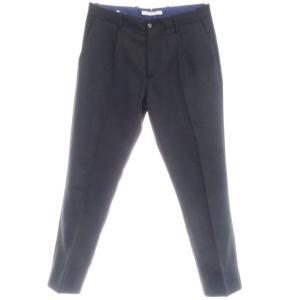 ジャブス アルキヴィオ giab's ARCHIVIO ストレッチ ウール スラックス パンツ ブラック 46|ritagliolibro