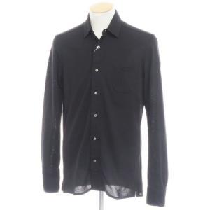 エム ピー ディ マッシモ ピオンボ MP di MASSIMO PIOMBO コットンジャージーカジュアルシャツ ブラック S|ritagliolibro