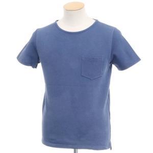 クルチアーニ Cruciani コットン鹿の子 半袖クルーネックTシャツ ライトネイビー 44|ritagliolibro