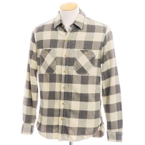 ロンハーマン Ron Herman コットン チェック カジュアルシャツ ベージュ×グレー S ritagliolibro