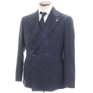 タリアトーレ TAGLIATORE SUPER110'S ウール 6Bダブルブレストジャケット ネイビー 52 ritagliolibro
