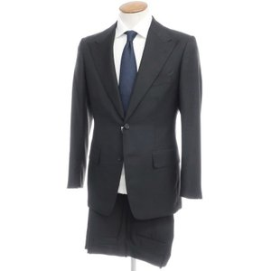 ソブリン ユナイテッドアローズ SOVEREIGN ウールモヘア 2つボタンスーツ ブラック 46|ritagliolibro