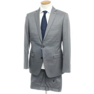 カルバンクライン Calvin Klein ウール 2つボタンスーツ グレー 38/32|ritagliolibro