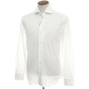 未使用 バルバ ダンディライフ BARBA DANDY LIFE コットン ワイドカラーシャツ ホワイト 40|ritagliolibro