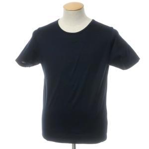 グランサッソ GRAN SASSO コットン クルーネック 半袖Tシャツ ネイビー 44 ritagliolibro