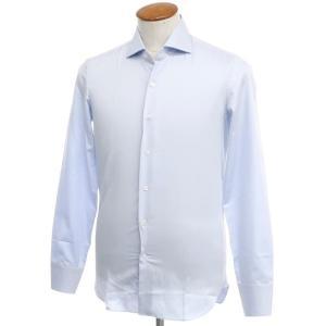 マリアサンタンジェロ Maria Santangelo コットン ワイドカラー ドレスシャツ サックス 39|ritagliolibro