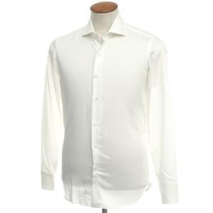 マリアサンタンジェロ Maria Santangelo コットン ワイドカラー ドレスシャツ ホワイト 39|ritagliolibro