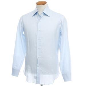 マリアサンタンジェロ Maria Santangelo コットン リネン ドレスシャツ ライトブルー 39|ritagliolibro