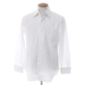 バルバ BARBA ストライプ コットン ドレスシャツ ホワイト×ブルー 39|ritagliolibro