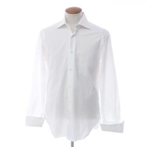 バルバ BARBA コットン セミワイドカラー ドレスシャツ ホワイト 39|ritagliolibro