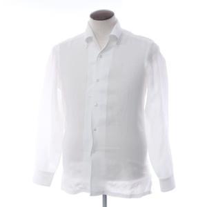 バルバ BARBA リネン イタリアンカラーシャツ ホワイト L|ritagliolibro
